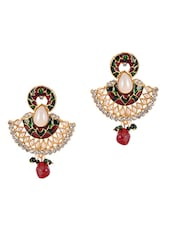 Pearl & American Diamond Studded Earrings - Luxor