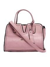 Pink Leatherette Handbag - KIARA
