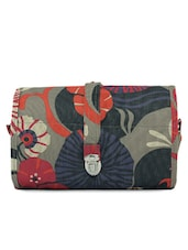 Multi Colour Floral Print Toiletry Kit Pouch - KIARA