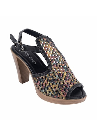 multicolor leather sandals