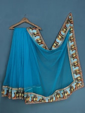 Sky Blue Net Saree - Admyrin