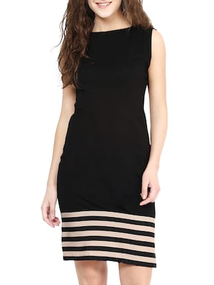 black striped cotton dress