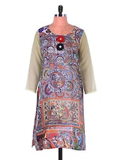 Multicoloured Digital Print Crepe Kurti - Admyrin