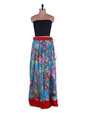 Floral Printed Georgette Long Skirt - Admyrin