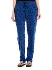 Blue Star Print Cotton Pyajama - TAB91