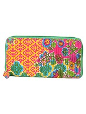 Multicolored Floral Print Wallet - By