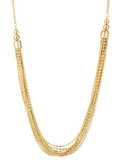 Multilayered Chain Gold Tone Necklace - Voylla