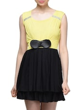 Color Block Round Neck Casual Dress - London Off