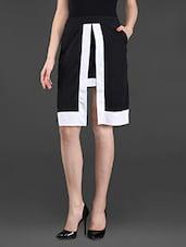 Layered Color Block Poly-crepe Skirt - Ridress
