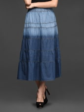 Ombre  Cotton Midi Skirt - By