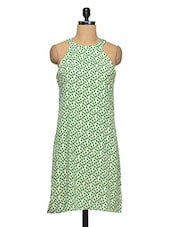 Printed Halter Neck Dress - Yepme