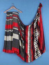 Multicolor  Crepe Silk Polka Dot Saree - Saraswati