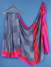 Multicolor  Crepe Silk Chevron Saree - Saraswati