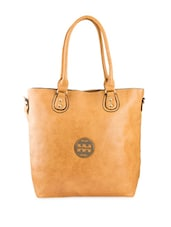Solid Brown PU Handbag Bag - Lalana