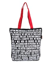 Black & White Typography Canvas Tote Bag - ORANGEHEART