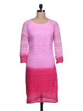 Pink Cotton Ombre Dress - Colbrii