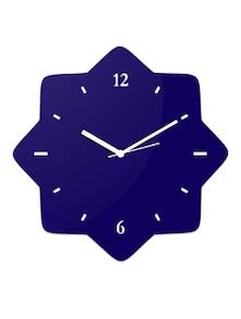 buy blue star shaped wall clock by creative width online