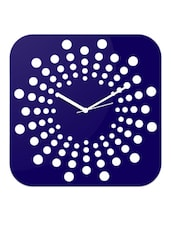 Blue Polka Dot Squircle Wall Clock - Creative Width Decor