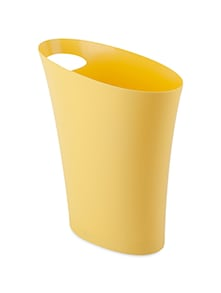 Yellow plastic waste can