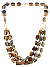 Multicoloured Beaded Multi-layered Necklace - ZRI