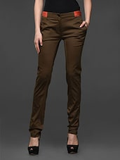 Olive Slim Fit Formal Trouser - Kaaryah