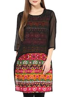 multi colored georgette kurta -  online shopping for kurtas