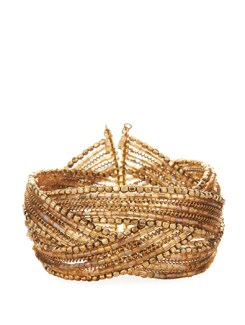 Gold Criss Cross Cuff - Flaunt