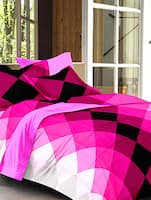 pink 100 % cotton bed sheet set -  online shopping for bed sheet sets