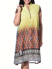 Multi Poly Georgette Regular Kurta - By