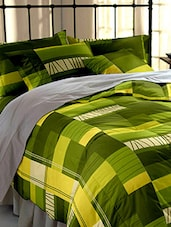 Dreamscape 140 100% Cotton Mustard Geometric Double bedsheet set -  online shopping for bed sheet sets