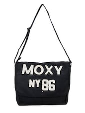 Moxy Black College Sling Bag - Adora