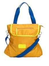 Yellow Detachable Sling Bag For College - Adora