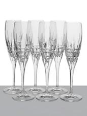 Embossed Lines  Champagne Flute - RCR - Da Vinci