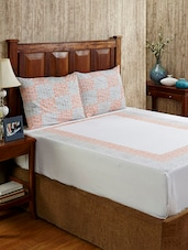 Printed White Cotton Bed Linen Set - Ratan Jaipur