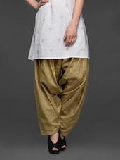 Plain Solid Cotton Patiala Salwar - SHREE - 1017347