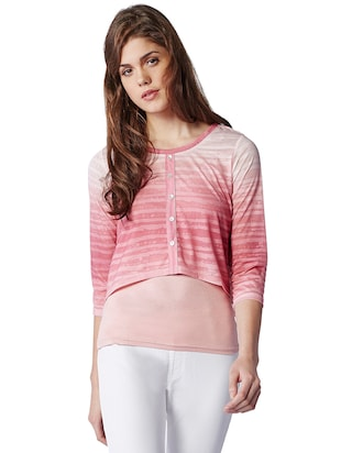 pink colour rayon top