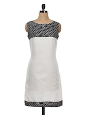 White & Black Printed Cotton Kurti - KYLA F