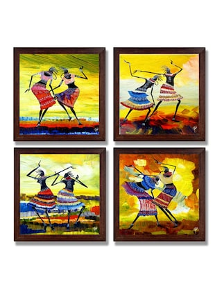 Ray Decor Wall Paintings Set of 4 -SQSET513