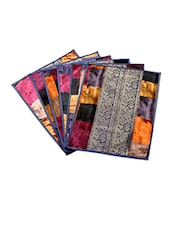 Velvet And Brocade Table Mats (Set Of 6) - Jodhaa