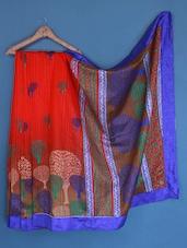 Tree Printed Bhagalpuri Silk Saree - Varanga