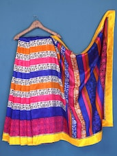 Tribal Print Bhagalpuri Silk Saree - Varanga - 1018101