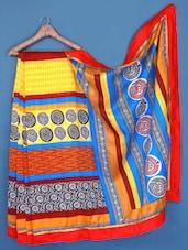 Printed Bhagalpuri Silk Saree - Varanga