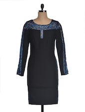 Black And Blue Lace Dress - FOREVER UNIQUE