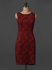 Sleeveless Rose Printed Shift Dress - Bella Rosa