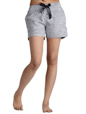 Grey Dotted Rayon Shorts - Nite Flite