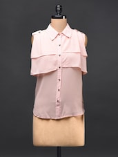 Baby Pink Georgette Shirt - TREND SHOP