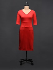 Red Sheath Dress - TREND SHOP