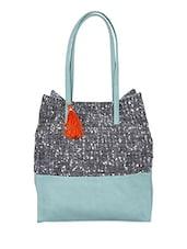 Colour Block Tote Bag - DESI DRAMA QUEEN