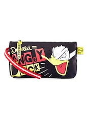 Black Angry Donald Duck Printed Wristlet - Be... For Bag