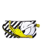 Black & White Donald Duck Printed Wristlet - Be... For Bag
